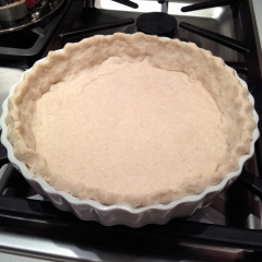 After a 20 minute pre-bake at 350 F - ready to fill