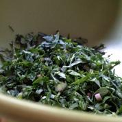 Chiffonade the kale
