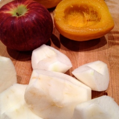 Apples and squash for the filling