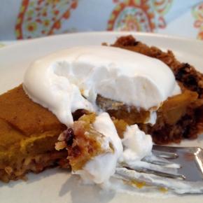 Vegan Pumpkin Pie with OatCrust