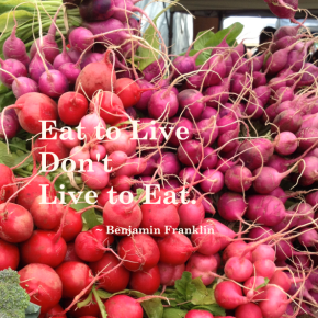 Monday Mantra: Eat To Live Or Live To Eat