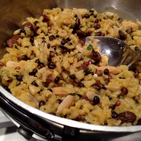 Moroccan Rice Pilaf with Currants and Almonds