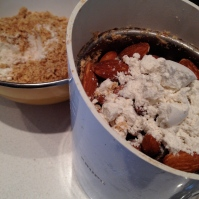 """processing almonds to """"flour"""" incorporating a little GF flour to prevent clumping"""