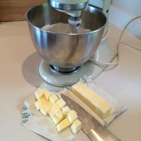 Cubed cold butter