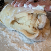 Kneading to create layers