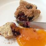Warm scone with Taylor's homemade apricot jam!
