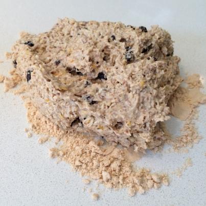 Turned onto a coconut floured surface