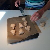 Placing on the baking sheet