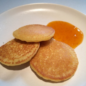 With apricot preserves