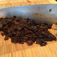 Chopped prunes for the batter