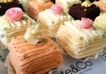 Frosted mini cakes