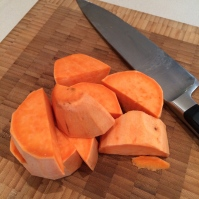 Chopped sweet potato