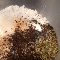 Dry ingredients plus seeds ready to blend
