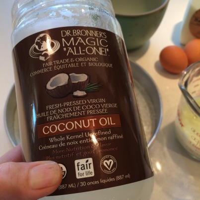Coconut oil to grease the pan