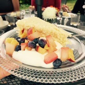 Coconut Cake with Summer Fruit and Coconut Cream